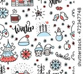 winter doodles icon. hand drawn ... | Shutterstock .eps vector #472347748