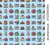 colorful building icons set... | Shutterstock .eps vector #472354354