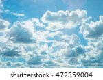 Beautiful Blue Sky Clouds Backgroundsky - Fine Art prints