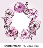 hand drawn banner with frame... | Shutterstock .eps vector #472361653