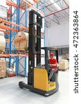 Forklift Loading Pallet With...