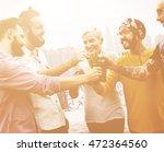 celebration cheers hipster... | Shutterstock . vector #472364560