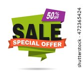 special offer sale banner.... | Shutterstock .eps vector #472365424