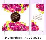 vintage delicate invitation... | Shutterstock . vector #472368868