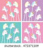 unicorn color pink green violet ... | Shutterstock .eps vector #472371109