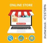 online store concept. set icons.... | Shutterstock .eps vector #472373896