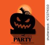 halloween layout design cover... | Shutterstock .eps vector #472374310