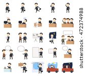businessman vector illustration.... | Shutterstock .eps vector #472374988