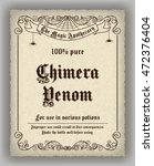 halloween apothecary label in... | Shutterstock .eps vector #472376404