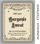 halloween apothecary label in... | Shutterstock .eps vector #472376410