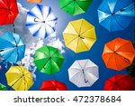 background colorful umbrella... | Shutterstock . vector #472378684