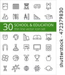 outline icon collection  ... | Shutterstock .eps vector #472379830