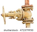 Old Industrial Valve On White...