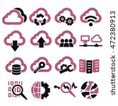 cloud computing icon set | Shutterstock .eps vector #472380913
