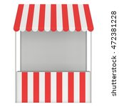 market stand kiosk stall with... | Shutterstock . vector #472381228