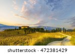 val d'orcia  tuscany  italy ... | Shutterstock . vector #472381429