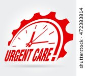 vector sign   urgent care  | Shutterstock .eps vector #472383814