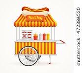 fast food hot dog street market ... | Shutterstock .eps vector #472386520