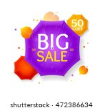 big sale autumn umbrella label... | Shutterstock .eps vector #472386634
