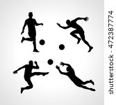 football players collection in...   Shutterstock .eps vector #472387774