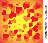 abstract vector love background ... | Shutterstock .eps vector #472389334