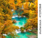 aerial autumn view on... | Shutterstock . vector #472392868