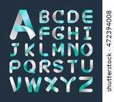 alphabet vector font.capital... | Shutterstock .eps vector #472394008