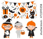 vector set of characters and... | Shutterstock .eps vector #472395358