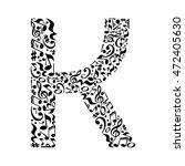 k letter made of musical notes... | Shutterstock . vector #472405630
