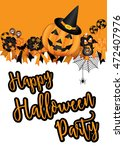 halloween party design template ... | Shutterstock .eps vector #472407976