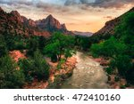 dusk on the virgin river in... | Shutterstock . vector #472410160