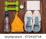 workout and fitness dieting... | Shutterstock . vector #472410718