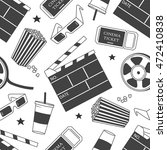 collection of cinema symbols... | Shutterstock .eps vector #472410838