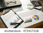 financial printed paper charts  ... | Shutterstock . vector #472417228
