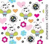 Cute Ladybug Cartoon With...