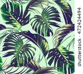palm leaves  jungle leaf ... | Shutterstock .eps vector #472424494