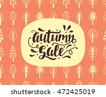 autumn sale banner with hand... | Shutterstock .eps vector #472425019