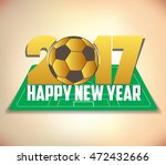 happy new year 2017 with ball | Shutterstock . vector #472432666