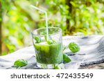 green smoothie with fresh...   Shutterstock . vector #472435549