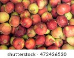 just picked collected apples... | Shutterstock . vector #472436530