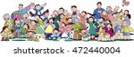 people gather | Shutterstock .eps vector #472440004