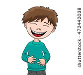 laughing boy   happy little... | Shutterstock .eps vector #472442038