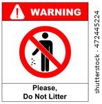 No Littering Sign Vector...