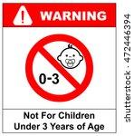 prohibition sign for children... | Shutterstock .eps vector #472446394