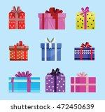 gift box birthday set present... | Shutterstock .eps vector #472450639