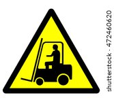 industrial vehicles warning... | Shutterstock .eps vector #472460620