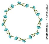 wreath floral decoration circle ... | Shutterstock .eps vector #472460860