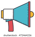 megaphone silhouette isolated...