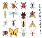 insect flat icons isolated on... | Shutterstock .eps vector #472465273