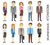 businessmen businesswomen... | Shutterstock .eps vector #472465288